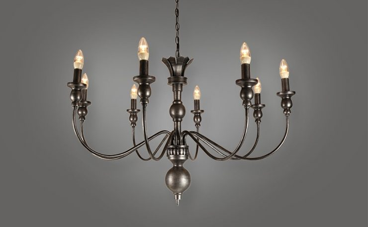 8L wrought itron chandelier
