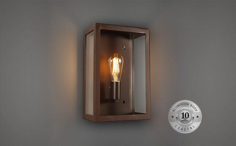 Alto rectangular wall mounted Outdoor lantern
