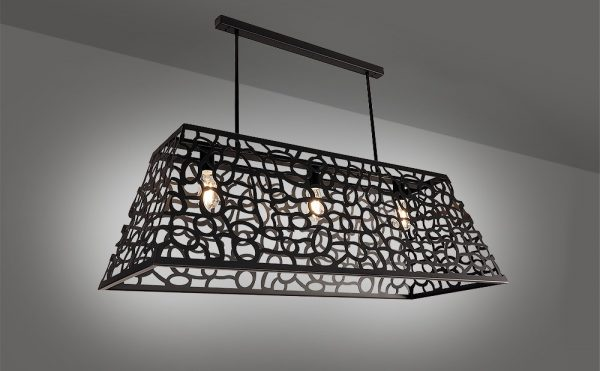 Barcelona - rectangular laser cut pendant light