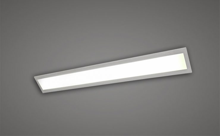 Recessed 4ft fluorescent with opal diffuer