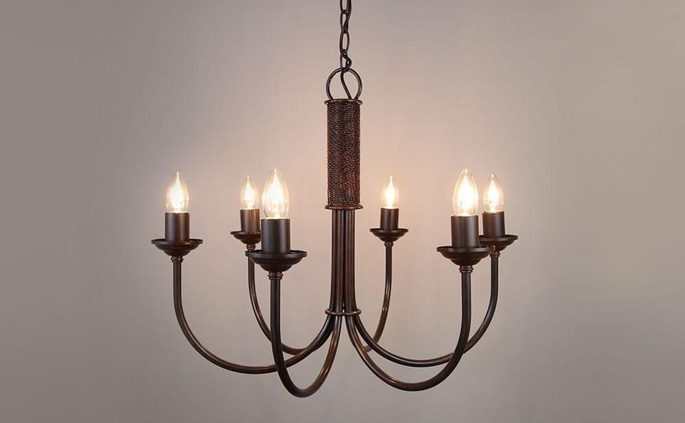 Wrought Iron Chandelier Light