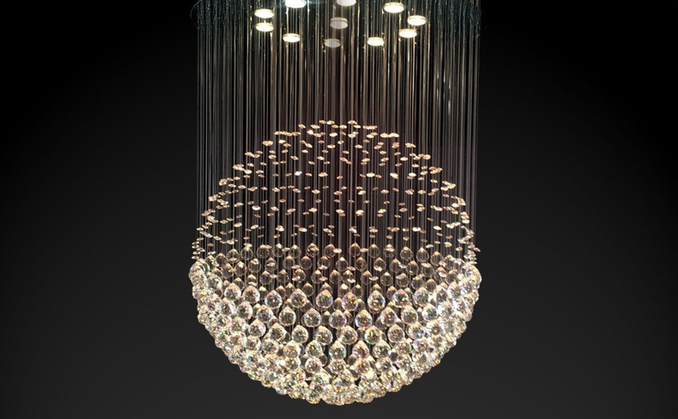 lamp chandelier pendant meteor ball modern stair led bocci crystal shower index
