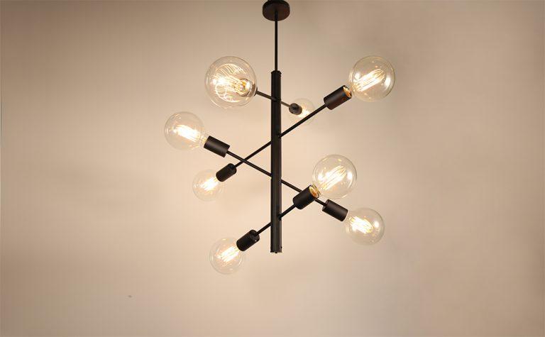 4-arm 8 Lights modern pendant light