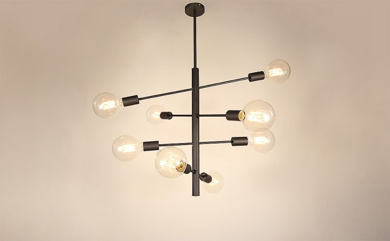 8 Lights 4 arms adjustable pendant light