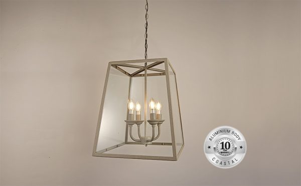 Large tapered square hanging lantern