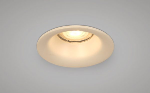 Recessed round white downlight