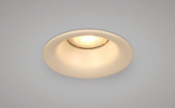 Recessed round white downlight