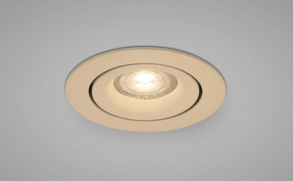 main voltage recessed tilt downlight white