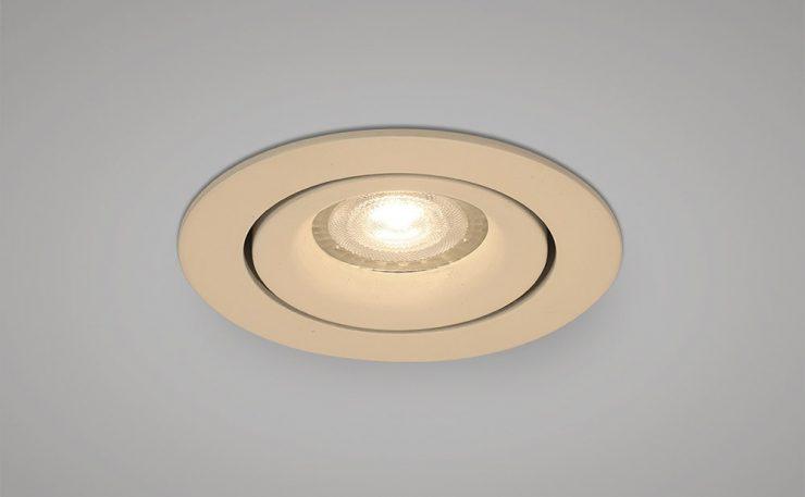 main voltage recessed tilt downlight white