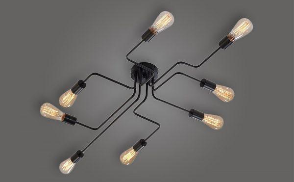 semi flush 8 lights ceiling light