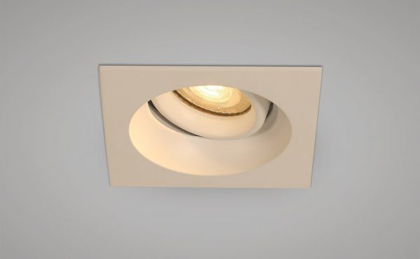 Recessed square antiglare downlight
